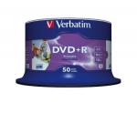 Verbatim DVD+R 16x 4,7GB 50p cake box AZO Wide Inkjet Printable