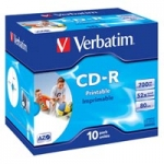Verbatim CD-R 52x 700MB 10szt SuperAzo Wid e Printable