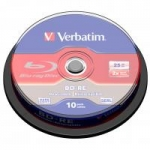 Verbatim BD-R 8x 25GB SL 10p cake box Single Layer, ScratchGuard+